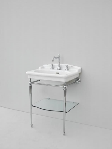 Eastbrook Fino Bathroom Basin & Chrome Washstand - 680mm Wide